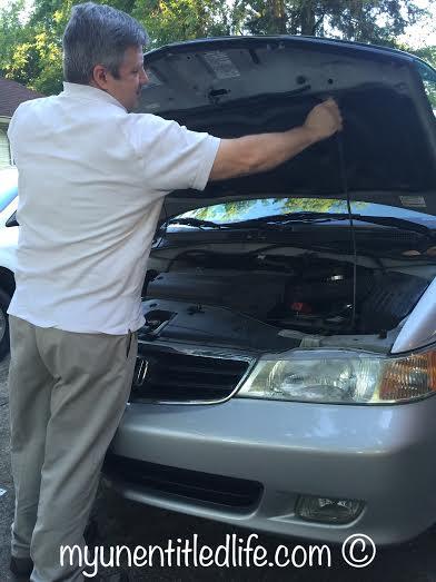 lift the hood to get your air filter installed
