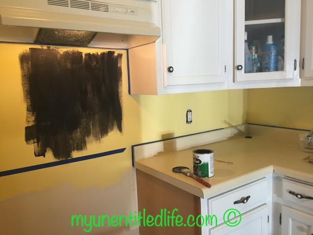 chalkboard backsplash 1