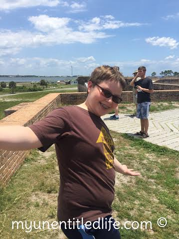 on top of Fort Pickens