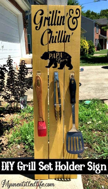 DIY Grill Holder Sign