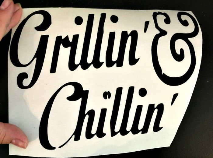 grilling and chilling sign