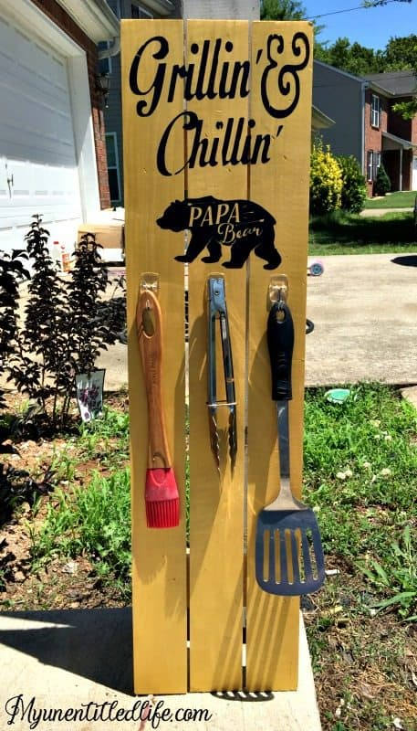 DIY Grill Set Holder Sign