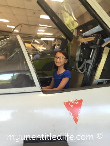 kids in a plane at nas pensacola