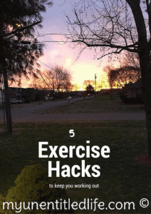 Exercise Hacks to get your workout in and a free exercise printable! #TenaTips #ad