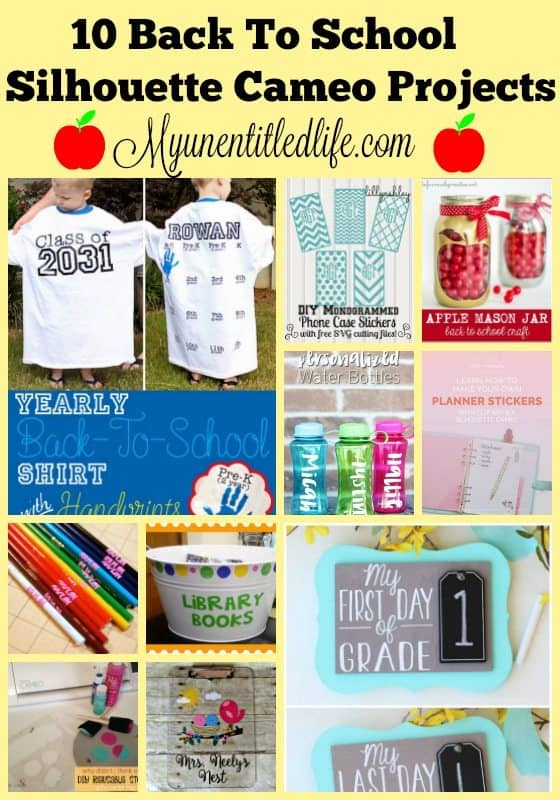 10 back to school silhouette cameo projects