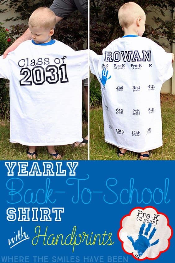yearly handprint teeshirt