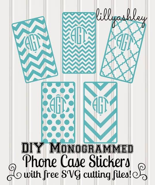 diy monogram phone covers