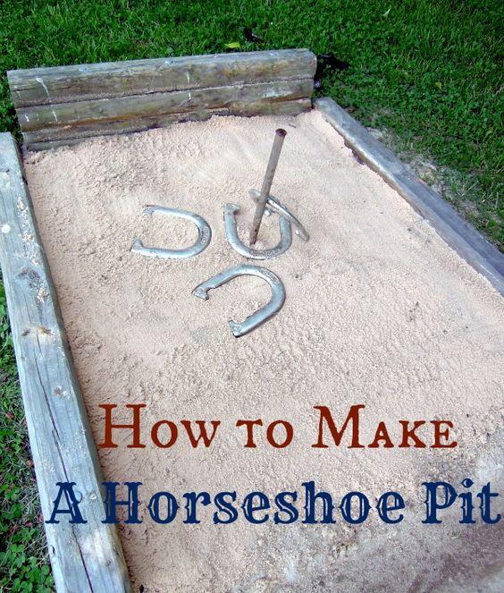 DIY horseshoe pit