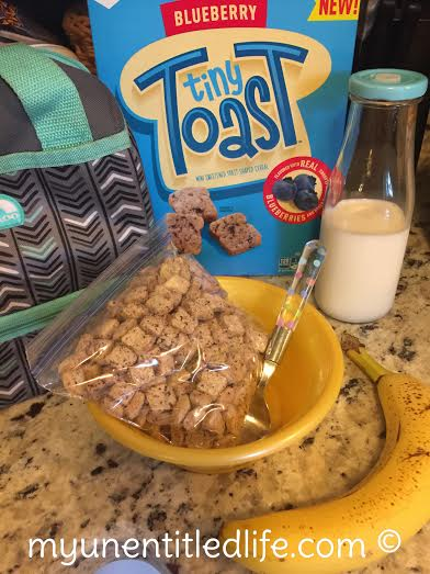 tiny toast cereal breakfast for lunch