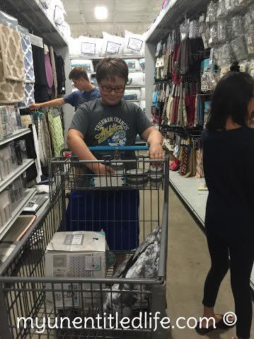 shopping for dorm
