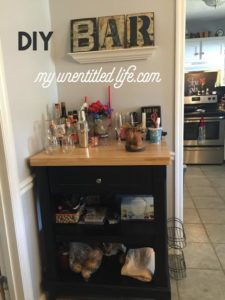 DIY Bar Project for the home!