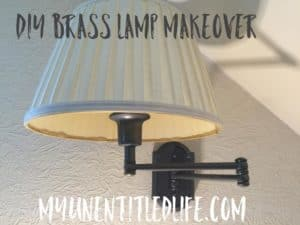 DIY Redoing Brass Lamps out with the brass in with the hammered metal