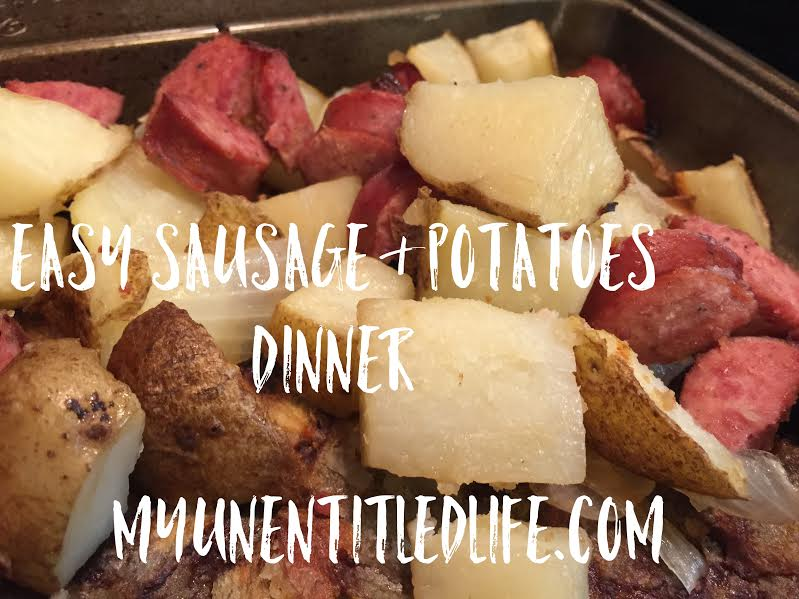 easy sausage and potatoes recipe for dinner