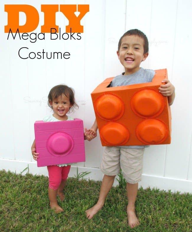 DIY mega bloks costume
