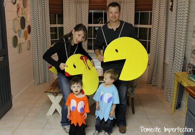 DIY pac man costumes