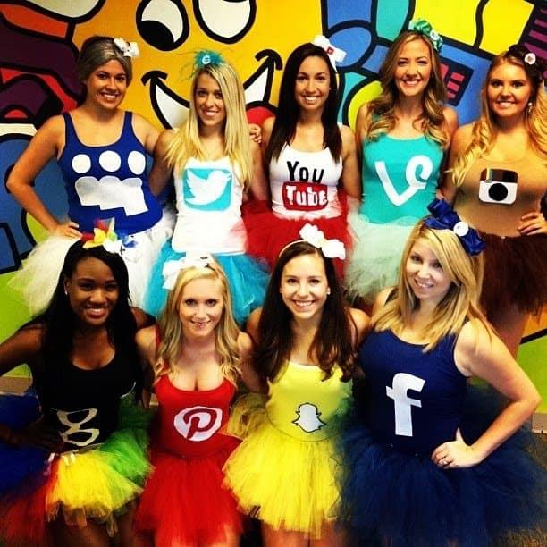 DIY social media family costumes