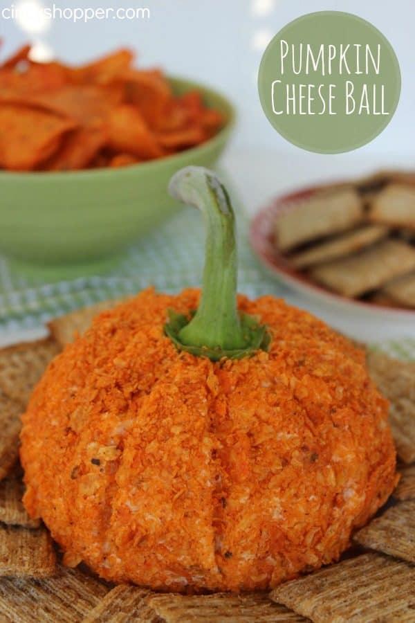 nacho pumpkin cheese ball