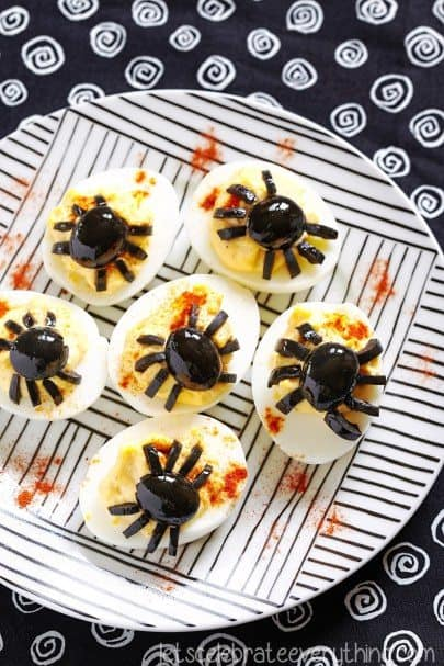 deviled spider eggs