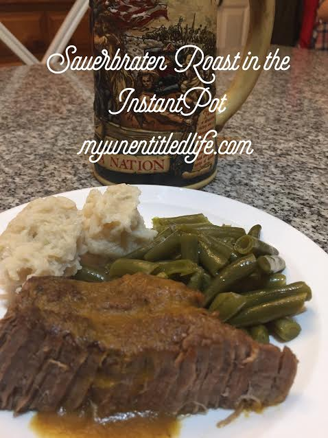 sauerbraten roast in the pressure cooker
