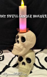 Simple And Spooky Skull Candle Holder Craft