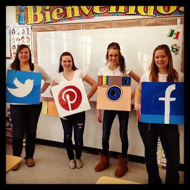 DIY social media costume