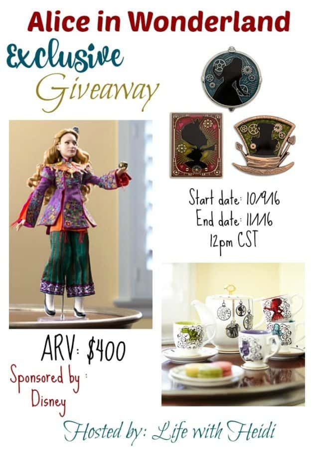 alice in wonderland giveaway