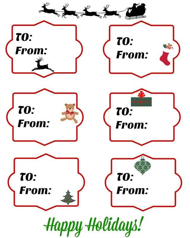 christmas gift tags free