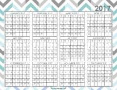 desktop calendar 2017 printable