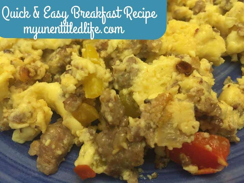 quick and easy breakfast idea